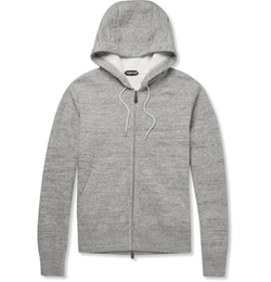 Tom Ford  - Knitted Cotton Blend Zip Up Hoodie