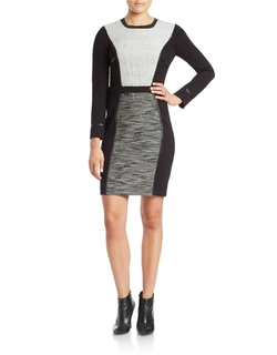 Rachel Rachel Roy - Long-Sleeve Colorblocked Sheath Dress