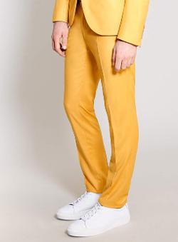Topman - Mustard Ultra Skinny Suit Pants