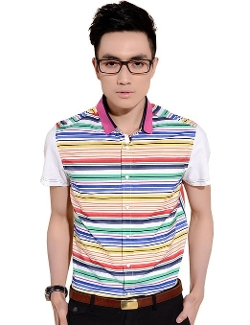 Sslr - Multicolor Casual Short Sleeve Shirt