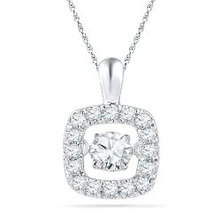 D-Gold  - Round Diamond Pendant