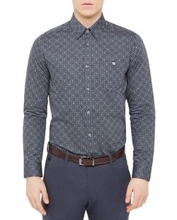 Ted Baker  - Regular Fit Trammo Tile Print Button Down Shirt