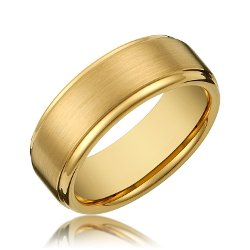 Cavalier Jewelers - Titanium Gold Ring Wedding Band