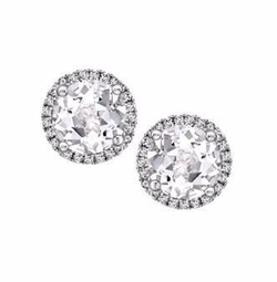 Kiki McDonough - Grace White Topaz & Diamond Stud Earrings