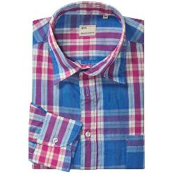 Mason's Italian  - Cotton Plaid Sport Shirt