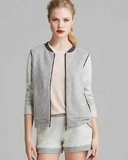 Bella Lux Jacket  - Color Block Bomber
