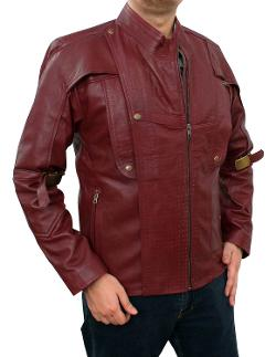 Fjackets  - Chris Red Galaxy Real Leather Jacket