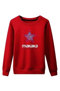Pink Wind - Cotton Pullover Sweatshirt