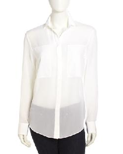 T by Alexander Wang -  Silk Chiffon Blouse