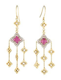 David Yurman  - Tourmaline Quatrefoil Chandelier Earrings