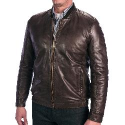 Andrew Marc  - Cash Leather Bomber Jacket