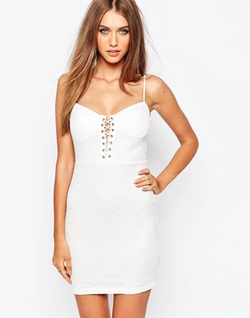 Missguided  - Lace Up Mini Dress