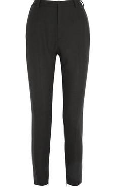 Saint Laurent  - Wool-Crepe Slim-Leg Tuxedo Pants