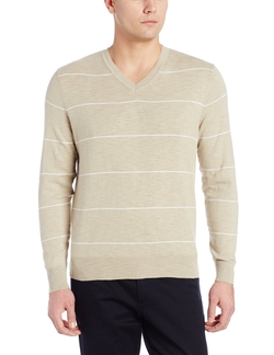 Dockers - Classic Striped V-Neck Sweater