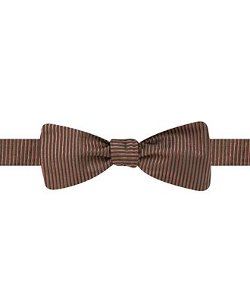 Ryan Seacrest Distinction  - Vertical Ribbed Solid To-Tie Bow Tie