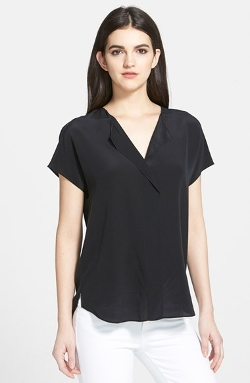Trouve - Trouvé Asymmetrical Silk Top