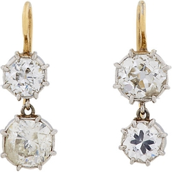 Renee Lewis - Diamond & White Gold Double-Drop Earrings