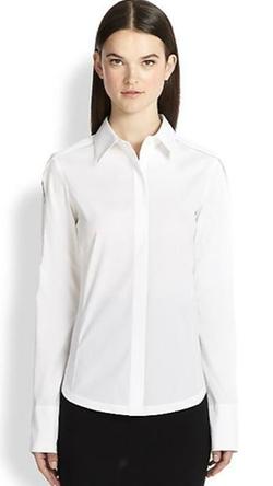 Donna Karan - Open-Sleeve Blouse