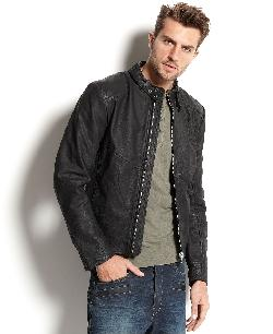 G-Star Hermans  - Leather Zip-Front Jacket