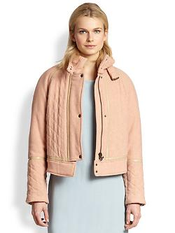 See by Chloe  - Wool-Blend Bomber Jacket