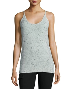 ATM - Donegal Speckled Cashmere Knit Camisole Top