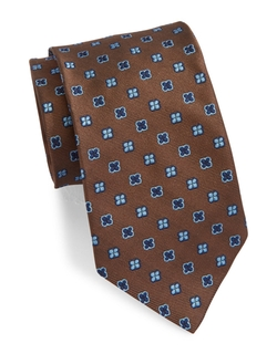 Brooks Brothers  - Red Fleece Printed Silk Tie