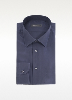 Forzieri - Pure Silk Dress Shirt