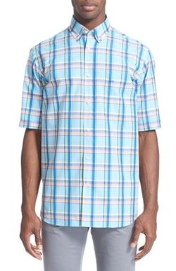Paul & Shark - Short Sleeve Plaid Sport Shirt