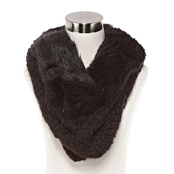 Mixit - Faux-Fur Trimmed Cowlneck Scarf