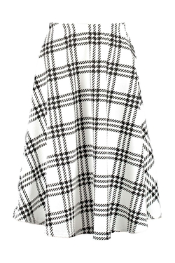 Boohoo - Jolene Check Full Circle Midi Skirt