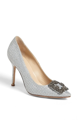 Manolo Blahnik - Hangisi Jeweled Pumps