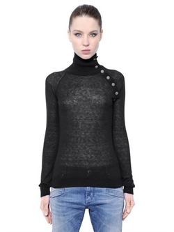 Pierre Balmain - Mohair Wool Blend Turtleneck Sweater