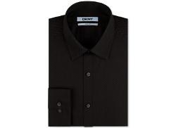 DKNY  - Slim-Fit Malt Geo Print Dress Shirt