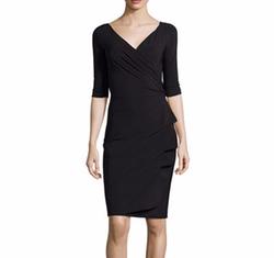 La Petite Robe - Florien Jersey Faux-Wrap Dress