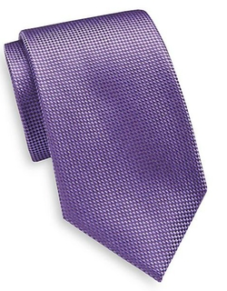 Yves Saint Laurent  - Textured Silk Tie