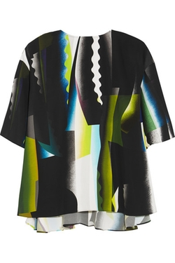 Kenzo - Spray Collage Printed Crepe Top