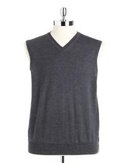 Black Brown  - Merino Wool Sweater Vest