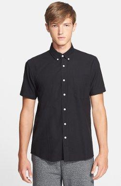 Saturdays  - Esquina Trim Fit Oxford Woven Shirt