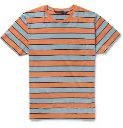 MARC JACOBS   - STRIPED COTTON-JERSEY T-SHIRT