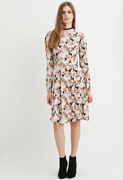 Forever 21 - Contemporary Pleated Floral Print Dress
