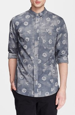 Paul Smith Jeans - Faded Geometric Print Sport Shirt
