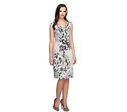 Kelly by Clinton Kelly  - Animal Print Knit Dress with Waist Detail