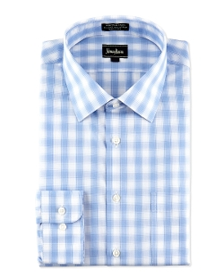 Neiman Marcus - Classic-Fit Plaid Checked Dress Shirt