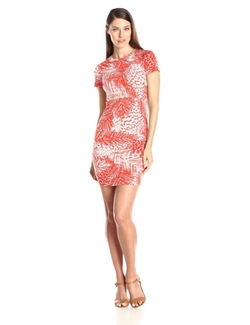 Vince Camuto - Short Sleeve Body Con Dress
