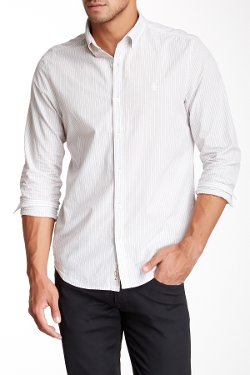 Original Penguin  - Pinstripe Long Sleeve Shirt