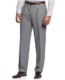 Louis Raphael  - Dress Pants Comfort Stretch Wool-Blend Pleated