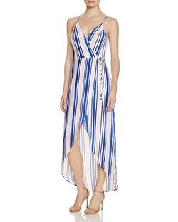 ASTR - Stripe Wrap Maxi Dress