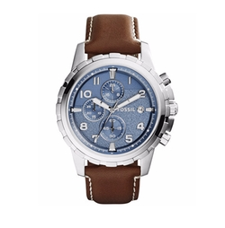 Fossil  - Chronograph Dean Leather Strap Watch