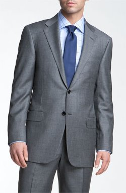 Hickey Freeman  - Grey Sharkskin Suit