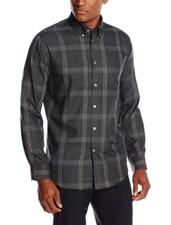 Van Heusen - Long Sleeve Wide Plaid Shirt